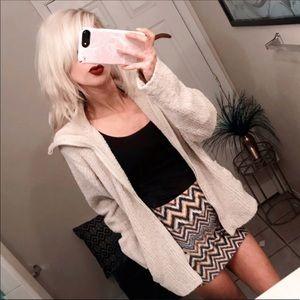 🌲 Cream Chenille cardigan sweater